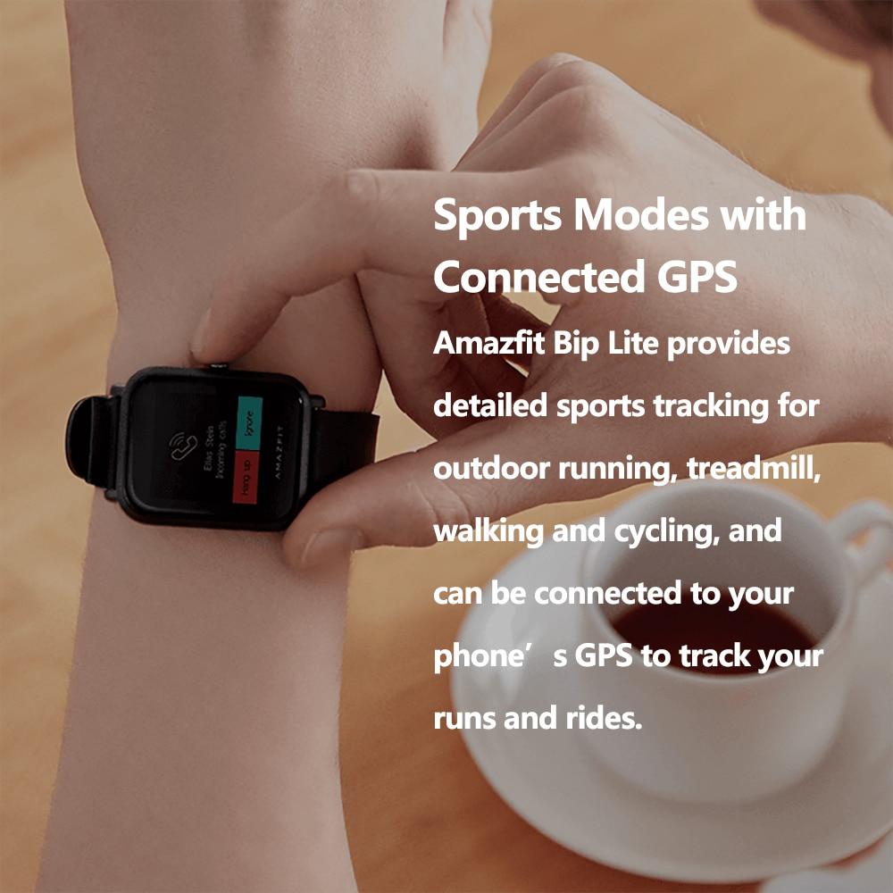 Image 4 - Global Version Amazfit Bip Lite Smart Watch Lightweight 3ATM  Water resistant Smartwatch With 45 Days Standby GPSSmart Watches   -