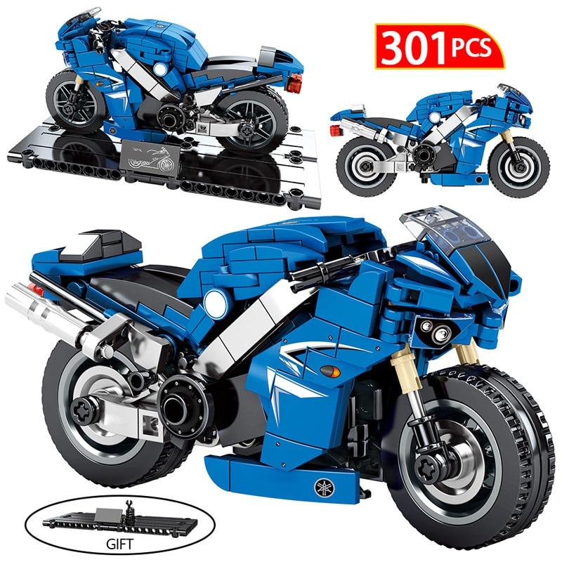 Creator DIY Motorbike Building Blocks For Legoings City MOC Technic Motorcycle Motor Car Model Bricks Educational Toy For Boys