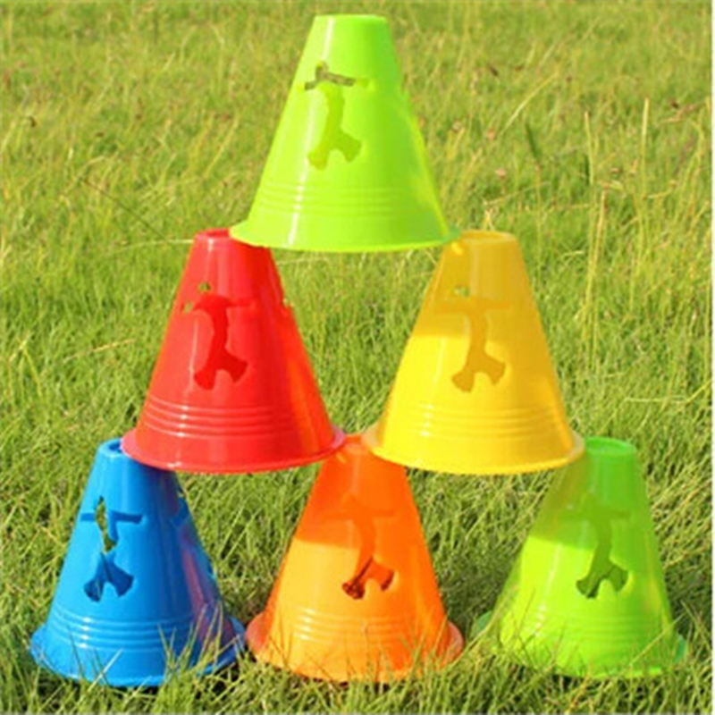 Windproof Skating Cone For Inline Skating FSK Slalom Green Blue Yellow Orange Red