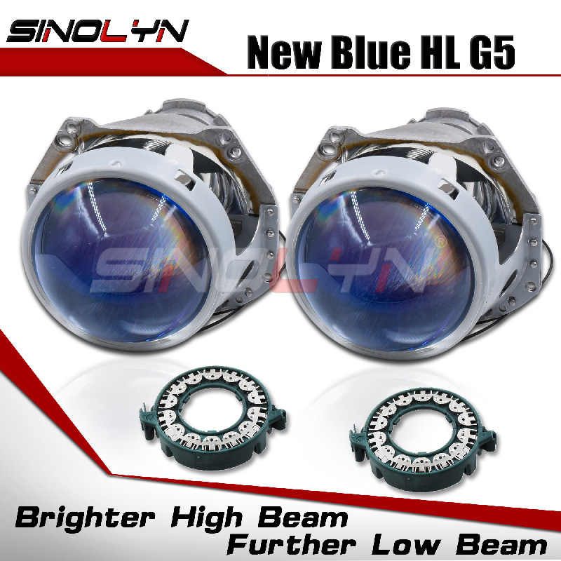 Sinolyn Hella 3R G5 D2S D1S Headlight Lenses Bixenon Lens 3.0 Blue Projector For Car Lights Accessories Retrofit D3S D4S HID DIY