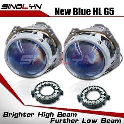Sinolyn Hella 3R G5 D2S D1S lentes de faro Bixenon lente 3,0 proyector azul para accesorios de luces de coche readaptación D3S D4S HID DIY