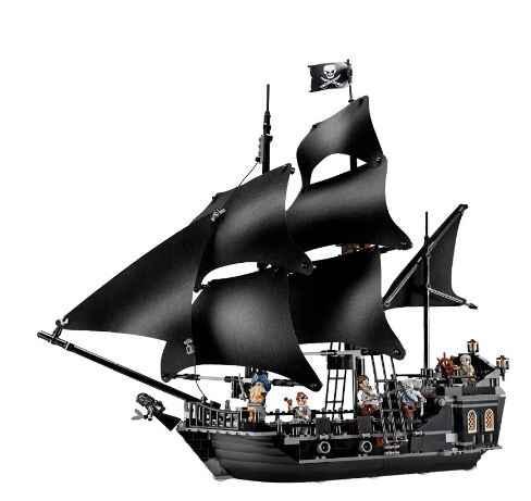 804PCS mattoni da costruzione blocchi di Pirati dei Caraibi la Nave Perla Nera compatibile Legoinglys 4184 giocattoli per il regalo Dei Bambini
