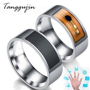 Умное кольцо Tanggujin NFC из нержавеющей стали, волшебное кольцо NFC с IC ID-картой для NFC, мобильный телефон, водонепроницаемое умное кольцо