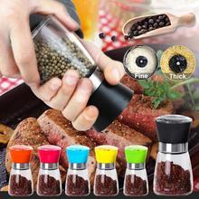 1 PC Pepper Grinder Manual Salt Pepper Mill Grinder Kitchen Cooking BBQ Tools Spice Grinding Container spice mill salt pepper manual grinder bottle
