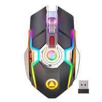 Rechargeable Wireless Gaming Mouse Gaming Mouse Silent Ergonomic 7 Keys RGB Backlit 1600 DPI mouse for Laptop Computer Pro Gamer