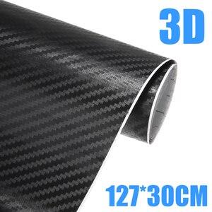 Image 1 - 1 шт. 30x127 см 3D углеродного волокна виниловая пленка для оклеивания автомобилей, Обёрточная бумага рулон пленки автомобильные наклейки для автомобилей и мотоциклов DIY Средства для укладки волос