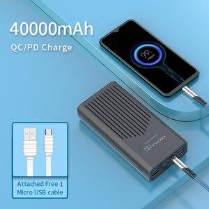 """Image 5 - כוח בנק 40000mah QC 3.0 פ""""ד 18W דו כיוונית מהיר תשלום בנק Power12V Powerbank עבור מחשב נייד/מחברת כוח בנק עבור IPhone 12"""