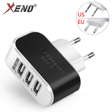 EU/US plug 5V 2A Mobile Phone Charger 3 ports USB Fast Charging portable Travel Quick Charge Universal Wall Mobile Phone Charger usb charger eu us plug 3 ports quick charge fast charging mobile phone charger for iphone x samsung xiaomi huawei travel charger