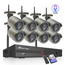Techage 8CH 1080P Wireless NVR CCTV IP Camera System 8pcs 2MP Audio Record Wifi Outdoor IR CUT Video Security Surveillance Kit(China)