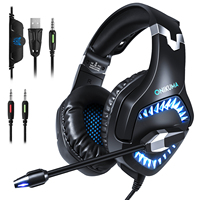 "pc עם סטריאו 3D Surround משחק עבור PS4 PC Gaming אוזניות 3.5 מ""מ אוזניות אוזניות גיימר עם מיקרופון הפחתת רעש (2)"