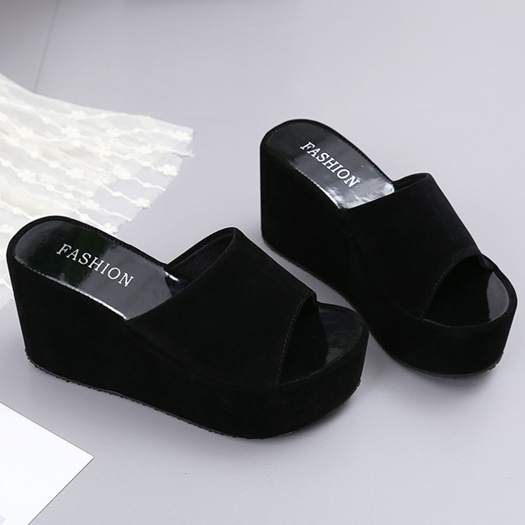 Sandals Casual Slippers Wedges Walk-Shoes Open-Toe Beach Summer -S title=