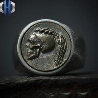 Original Design Handmade Silver Skull Girl Ring 925 Sterling Silver Pair Ring Skull Boy Ring