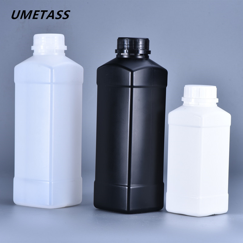 UMETASS 500ML,1000ML Empty Disinfectant Bottles HDPE Plastic Containers With Lids For Shampoo Lotion Makeup Container
