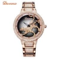 Women's Luxury Bling Rhinestone Spinning Leopard Watches Women Fashion Trendy Quartz Watch Rose Gold Silver Ladies Clock Gift