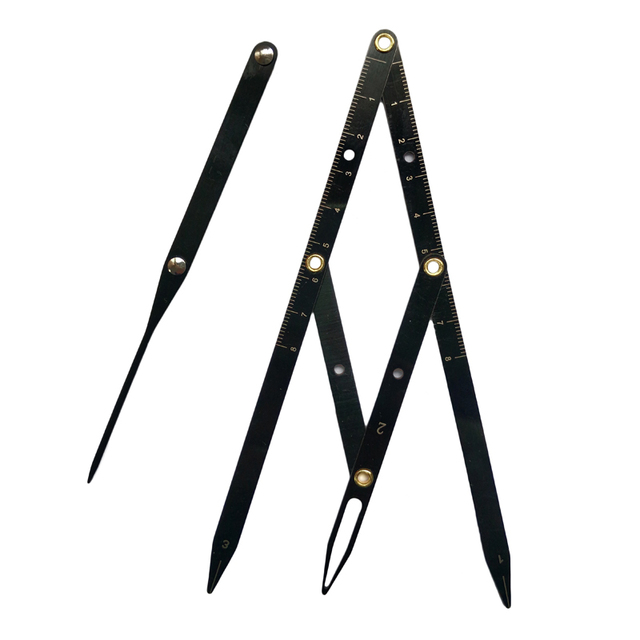 1pcs Microblading Accessories Eyebrow Ruler Golden Ratio Caliper Measuring Tools Eyebrow Stencil for Permanent Makeup Supplies 2