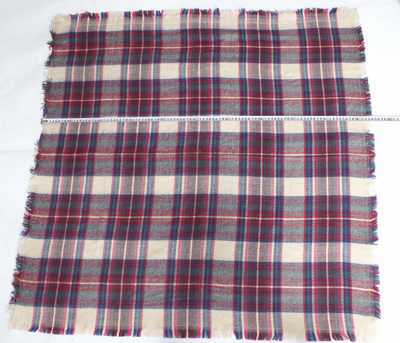 Autumn And Winter New Style British Style Faux Cashmere Galling Colorful Plaid CHILDREN'S Small Kerchief Tassels Shawl