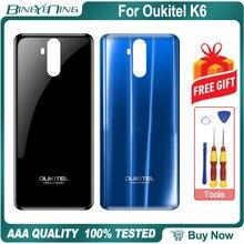 100% nowa oryginalna pokrywa baterii dla Oukitel K6 ochronna obudowa tylna naprawa akcesoria zamienne części akcesoria do telefonu