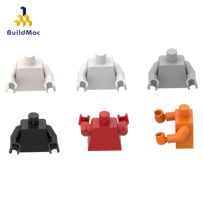 BuildMOC Compatible Assembles Particles 76382 Figurine Upper Body  Building Blocks Parts DIY LOGO Educational Tech Parts Toys