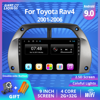 2 Din Android 9.0 Car Radio For Toyota RAV4 2001 2002 2003 2004-2006 Car Multimedia Player GPS Navigation Wifi 2IDN DVD Player image