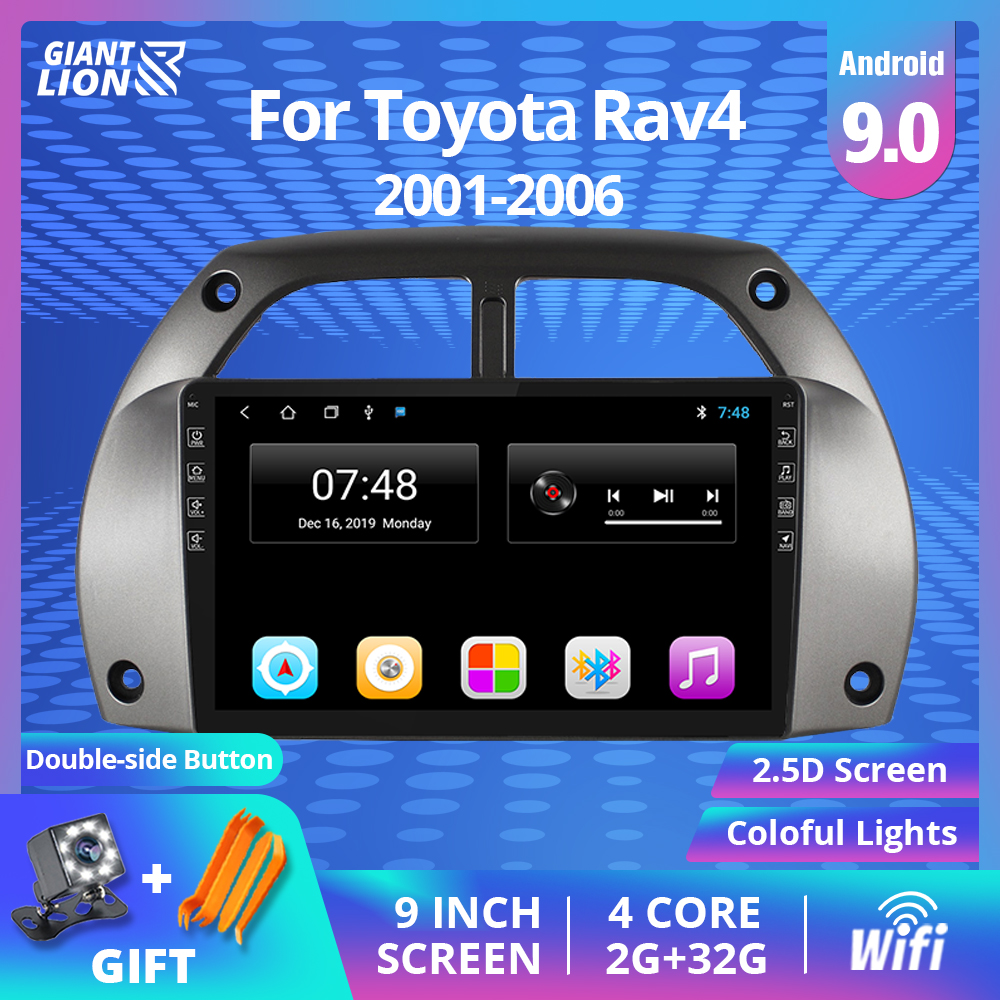 2 Din Android 9.0 <font><b>Car</b></font> Radio <font><b>For</b></font> <font><b>Toyota</b></font> <font><b>RAV4</b></font> 2001 2002 <font><b>2003</b></font> 2004-2006 <font><b>Car</b></font> <font><b>Multimedia</b></font> Player GPS Navigation Wifi 2IDN DVD Player image