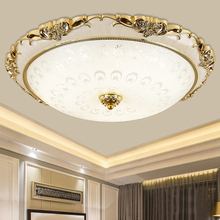 Gold plating Round Modern Led Ceiling Lights For Living Room Bedroom Study Room Three-colour Ceiling Lamp Fixtures
