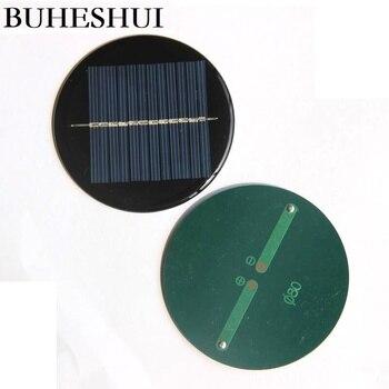 BUHESHUI  0.42W 6V Solar Panel r Battery Charger For LED Light Toy Panel  Polycrystalline Diameter 80MM Wholesale 1000pcs