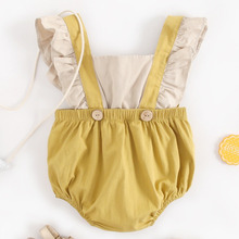 Toddler Baby Girls Ruffles Romper Infant Newborn Bebe Jumpsuit Summer Flower Babies Girl Clothes Fashion Cute Baby Kid Costumes ruffled flower baby rompers summer newborn baby costumes kids jumpsuit toddler baby girl romper ropa bebe clothes polo outfits