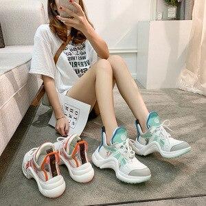 Женские кроссовки на платформе, лето 2020, новинка, хит продаж, арки, форма, светильник Runnung, Спортивная модная повседневная брендовая дизайнер...