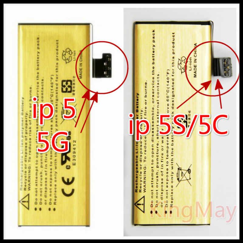 Zupełnie nowy oryginalny do dower do baterii iphone 5s bateria iphone 5s Zero-cycle o dużej pojemności złoty akumulator do baterii iphone 5s
