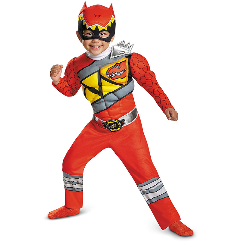 Red Power Dino Charge Boys Muscle Costume 1