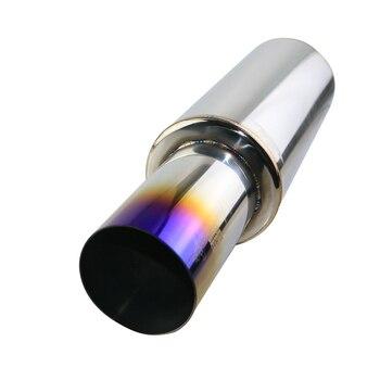 JZZS đốt cháy xanh dương xả ô tô đầu Bịt ống 63mm cửa hút gió 89mm Ổ cắm cao cấp công nghệ hàn cắt thẳng đuôi Ống Hãm thanh