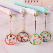 36pcs/set Girl Gift for Friends Cat Pendant Gel Pen Cute Wind Chime Student Stationery School Opens