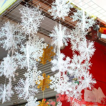 Christmas Snowflakes Christmas Decorations 6cm for ChristmasTree Christmas New Year Atmosphere for Home Decoration image