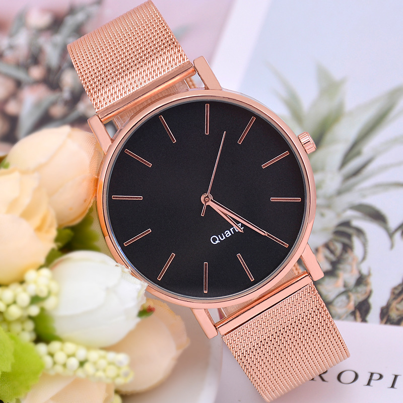 New Women Watch Women's Steel Ribbon Watch Fashion & Casual  Couple Stainless Steel Band Alloy Quartz Watch Couple Watch
