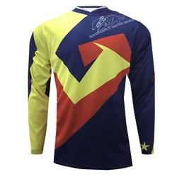 Koszulka Motocross z długim rękawem YBM Maillot Ciclismo oddychająca koszulka Crossmax DH koszulka rowerowa górska w Koszulki rowerowe od Sport i rozrywka na