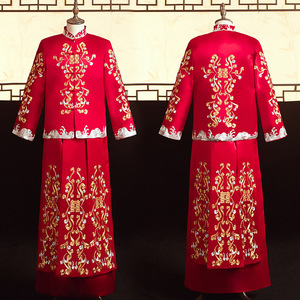 Image 3 - 2020 מכירה מוגבלת חתן טוקסידו הוא חליפה, חתן, אביב קיץ 2020, עתיקות חתונה טאנג גברים של סיני שמלה סיטונאי