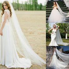 Véu de noiva, véu de noiva de 2 metros com pente, catedral branco marfim, elegante, acessórios de noiva z5