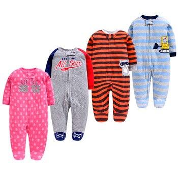 Одежда для новорожденных, флисовый зимний теплый детский комбинезон, пижамы для младенцев, бархатный фланелевый комбинезон, одежда с длинным рукавом для малышей 2019