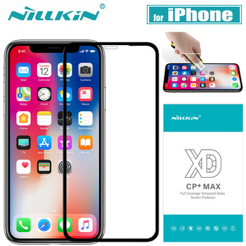 for iPhone X 8 7 Plus XR XS Max Glass Screen Protector Nillkin Full Cover 3D