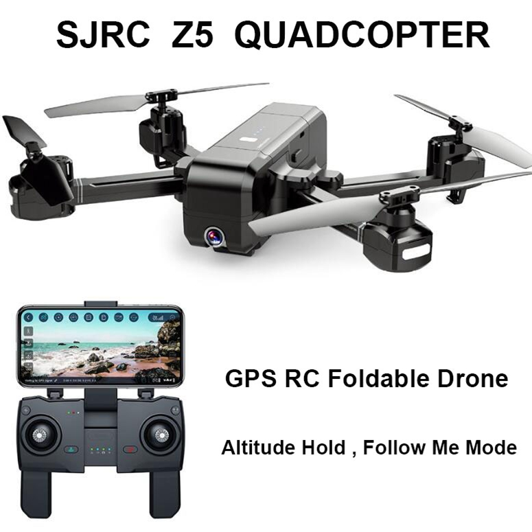 SJRC Z5 GPS RC Quadcopter Drone Helicopter With 2.4G 5G Wifi FPV 1080P Camera Altitude Hold Follow Me V f11 pro e58 2