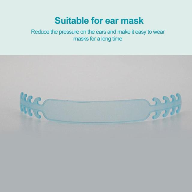 Soft Face Mask Ear Hooks Buckle Kids Adjustable Earache Fixer Ear Grip Extension Hook Ear Pain Prevention Extension Belt 2