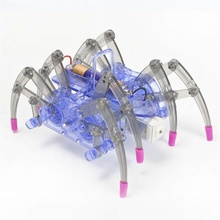 Toy Gifts Kids Electiric Toy Electric Spider Robot Kit DIY Educational Intelligence Development Assembled Kids  new electric robot spider model toy diy educational 3d toys assembles toys kits for kids christmas birthday gifts