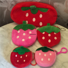 small key hook Plush bag Purse , fruit plush coin toy Purse , in 3shapes