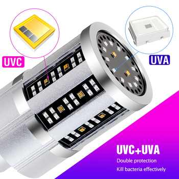 9 18 Led UVC Germicidal Lamp E27 Led UV Light Sterilizer 220V Ultraviolet Disinfecting Led Corn Bulb 110V Home Bactericidal Lamp - DISCOUNT ITEM  20 OFF All Category