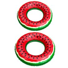 Circle Watermelon Float-Pool Swimming-Ring Beach-Toys Inflatable Kids Adult Safely Laps
