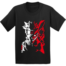 Akatsuki T-Shirt Anime Tops Clothes Boys Girls Summer Children 100%Cotton Itachi Fashion