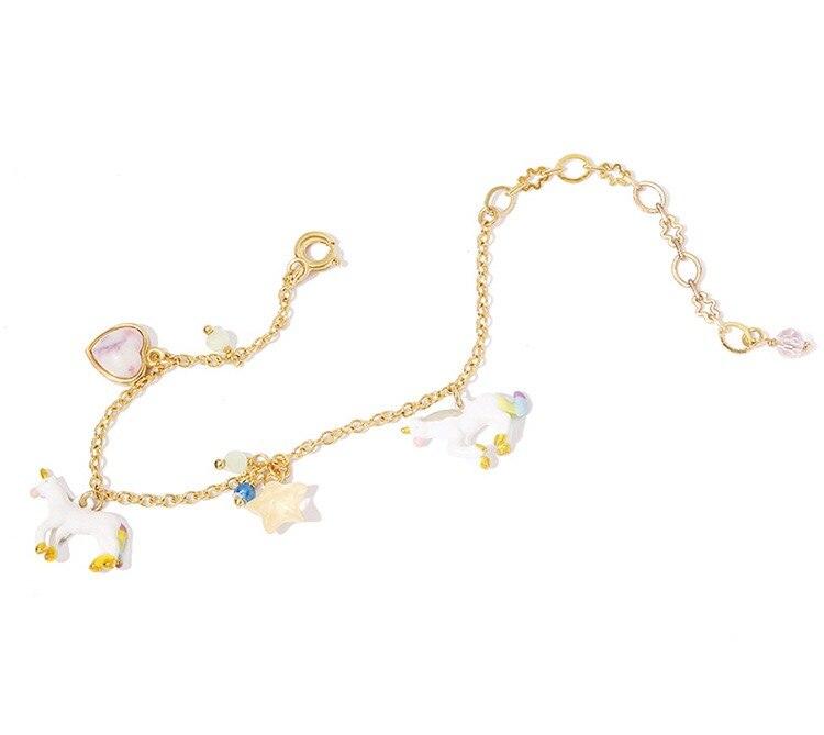 esmalte corrente pulseiras marca original elegante delicado pulseiras para mulher menina
