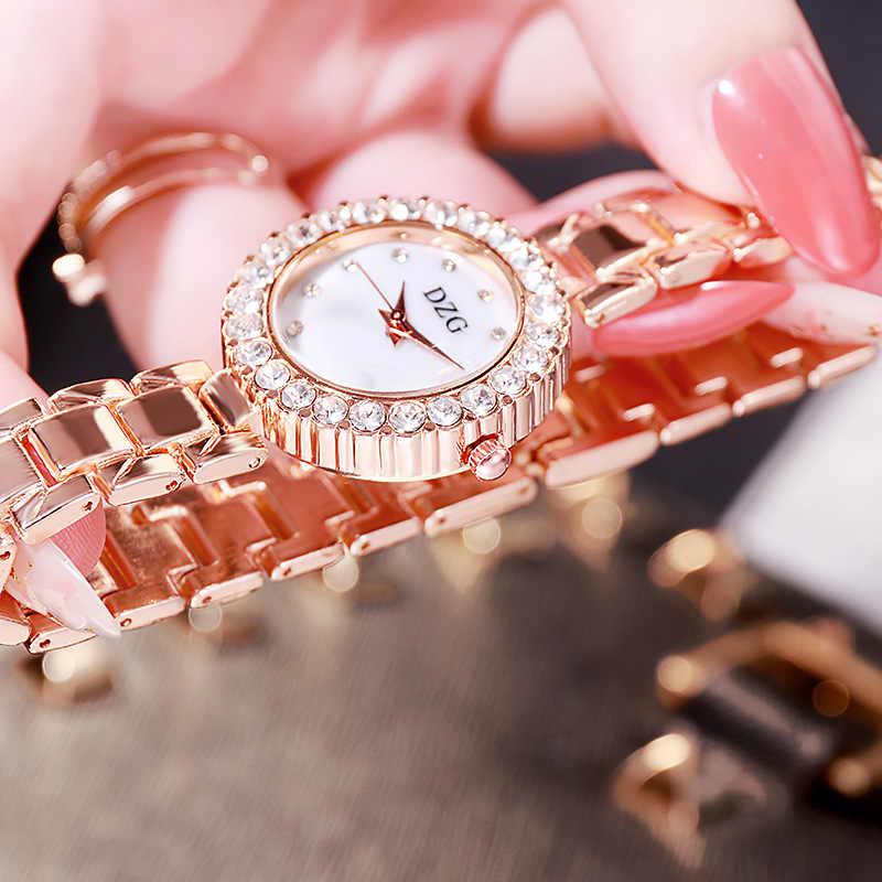 שעון נשים אופנה יוקרה יהלומי קוורץ שעוני יד לנשים Creative עגול נשים שעונים פשוט אלגנטי נקבה יד שעון