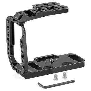 Image 2 - Blackmagic 디자인을위한 SmallRig BMPCC 4K 6K 하프 케이지 Nato Rail/Arri 위치 결정 구멍이있는 포켓 시네마 카메라 케이지/구두 2254