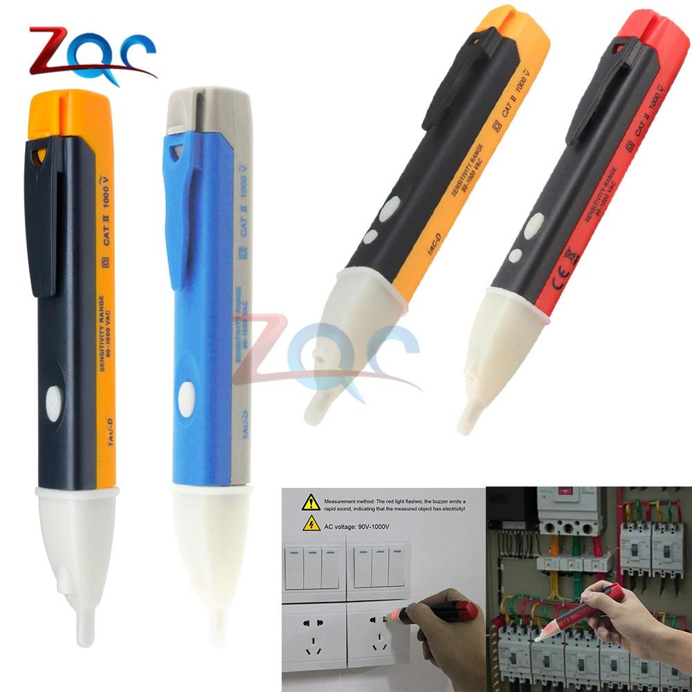 AC 110V 220V Voltmeter Voltage Probe Volt Meter Electric Indicator Power Detector Tester Non-Contact Socket Wall LED 90-1000V